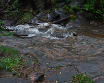 Granite flowing into water
